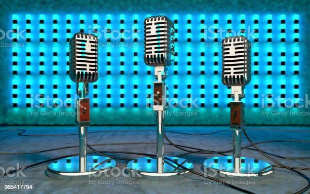 Foto de Luzes Do Microfone E O Palco Ilustração De Concept3d Concerto E A Música N e mais fotos de stock de Arte, Cultura e Espetáculo