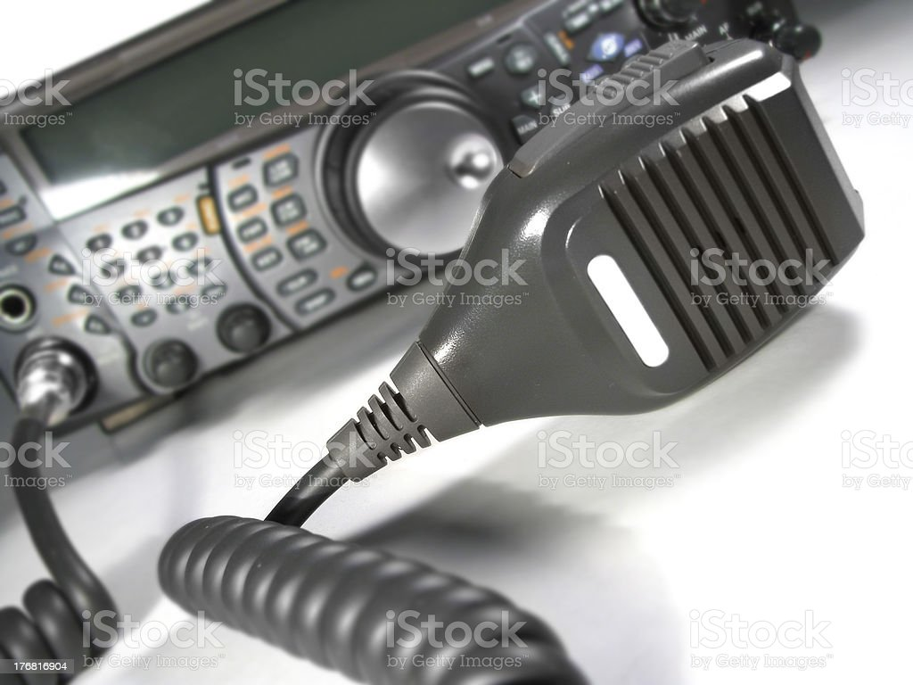 Microphone and transceiver stock photo