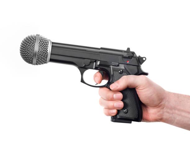 Mikrofon als Waffe – Foto