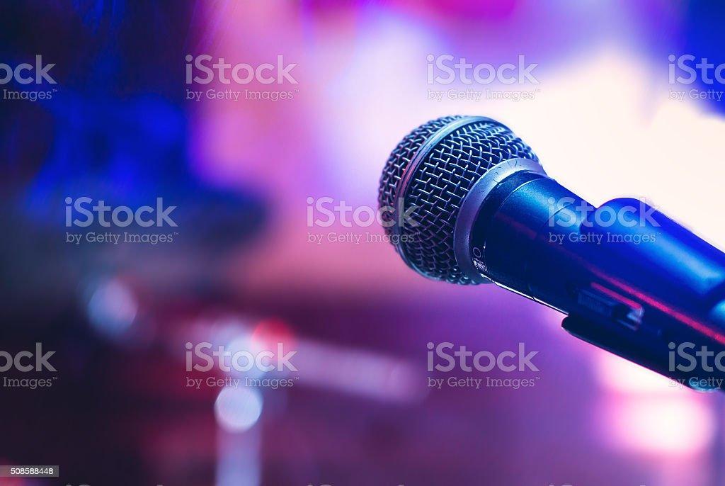 Micrófono en concierto foto de stock libre de derechos