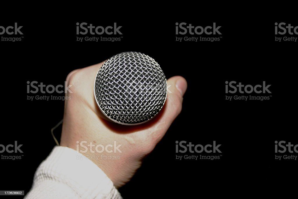 Microphone Check I... royalty-free stock photo
