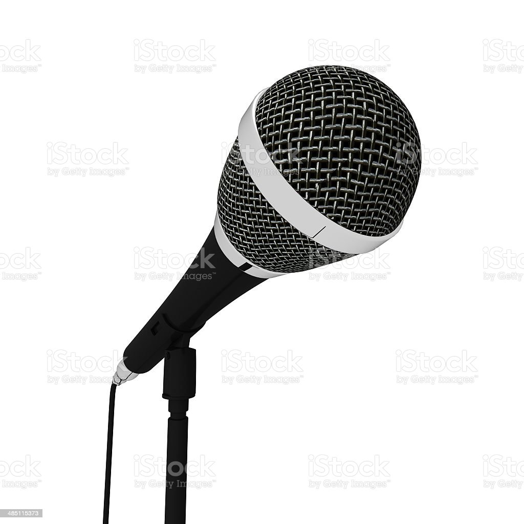 Microphone Closeup Musical Shows Songs Or Singing Hits stock photo