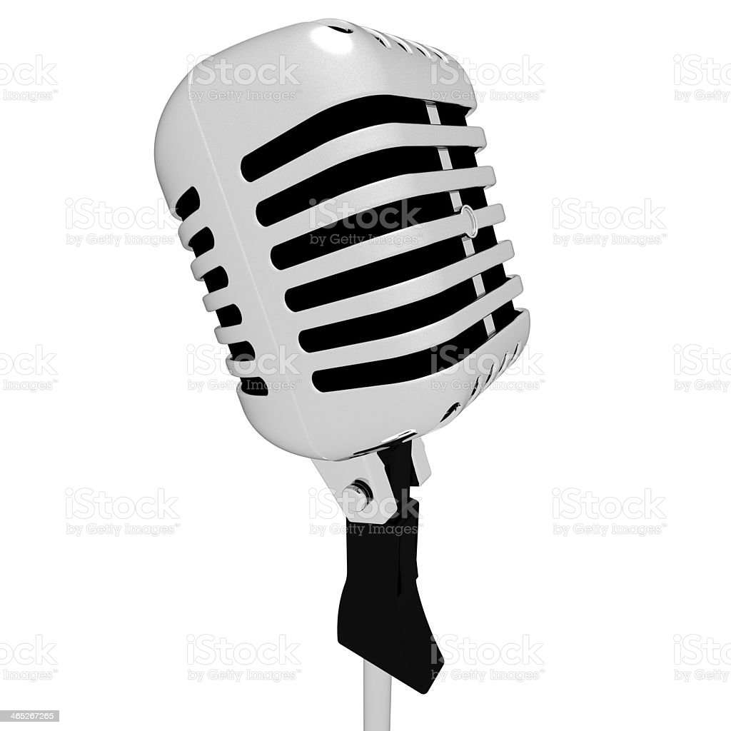 Microphone Closeup Shows Mic Concert Talent Or Show stock photo