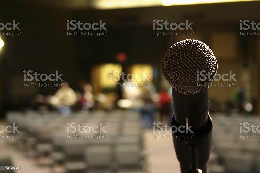 Microphone, Empty Auditorium II stock photo
