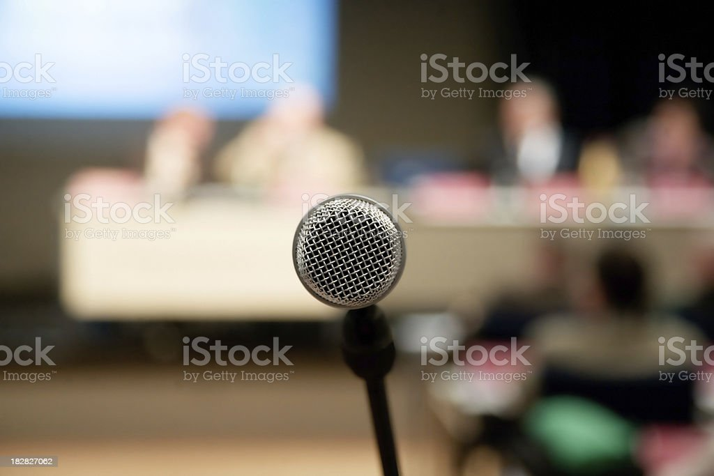 Microphone for public speaking royalty-free stock photo