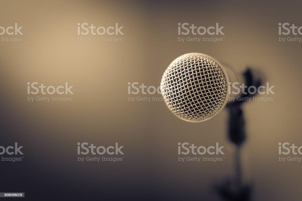 Microphone for speak stock photo