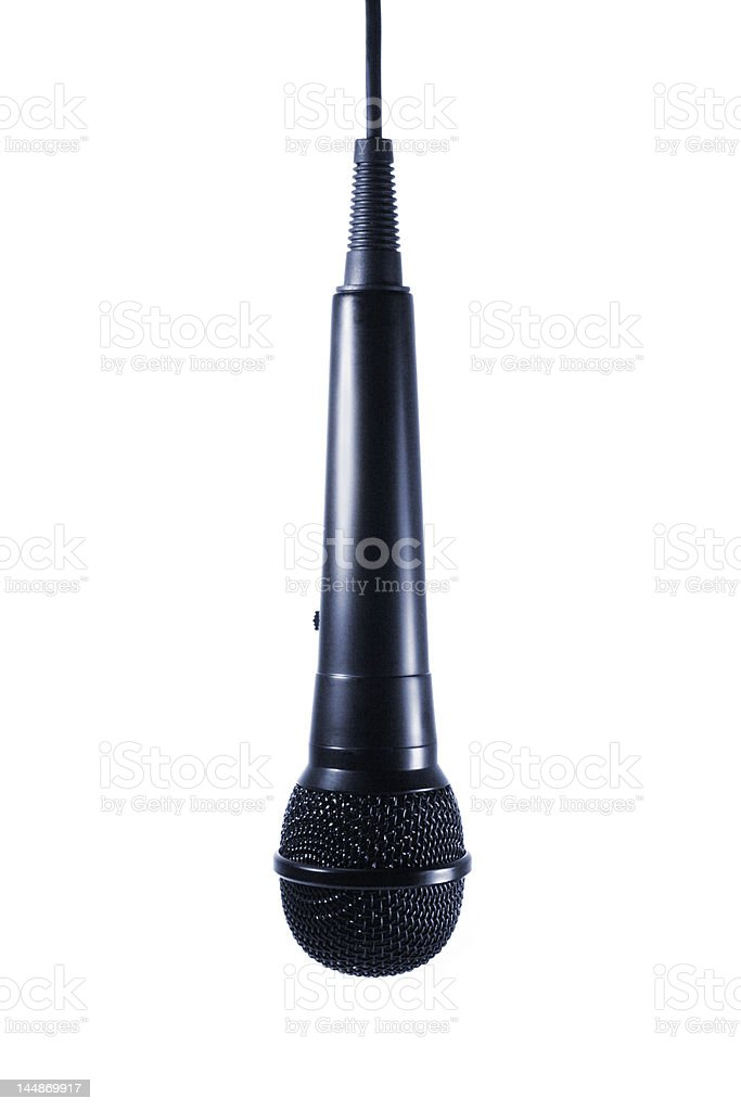 Microphone hanging isolated royalty-free stock photo