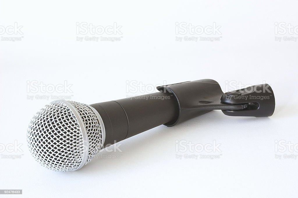 microphone in its holder royalty-free stock photo
