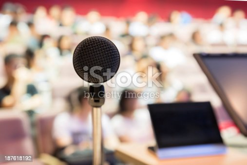 istock Microphone in Modern Classroom 187618192