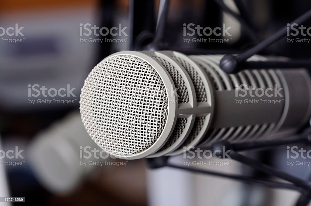 Microphone in Recording Studio royalty-free stock photo