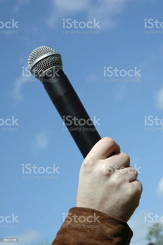 Microphone In Sky royalty-free stock photo
