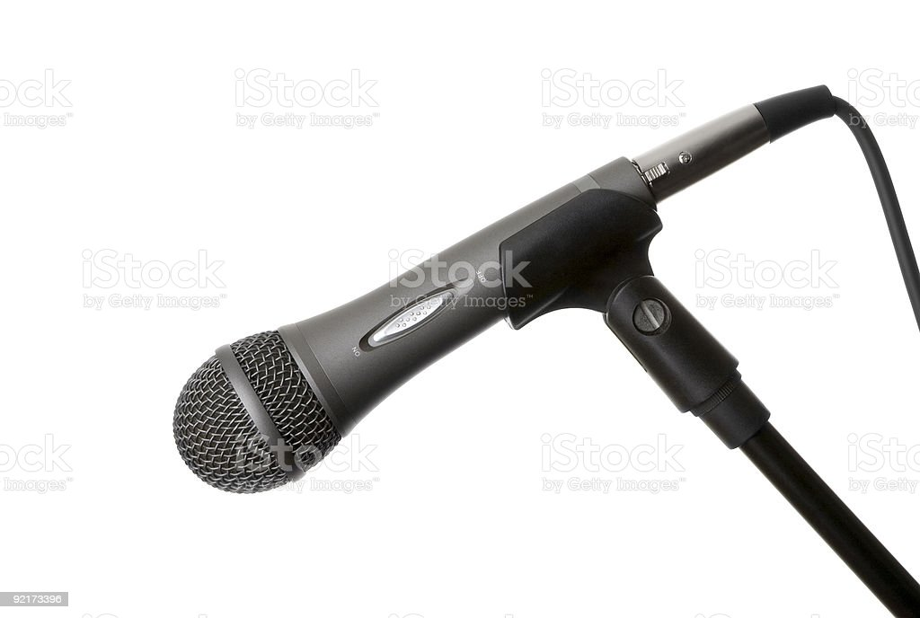 Microphone in Stand stock photo