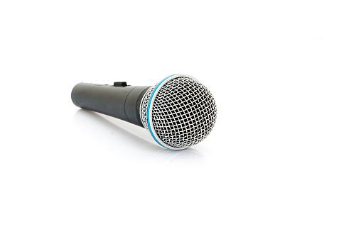 Mikrofon Isolieren Stockfoto und mehr Bilder von 2015