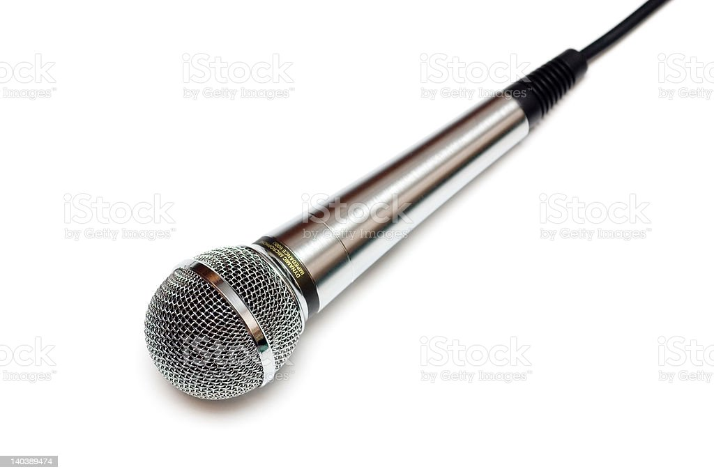 Microphone isolated on white. royalty-free stock photo