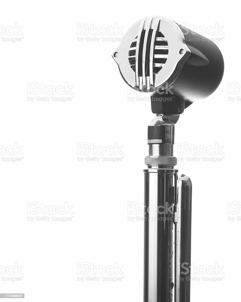 Microphone - Isolated on White royalty-free stock photo