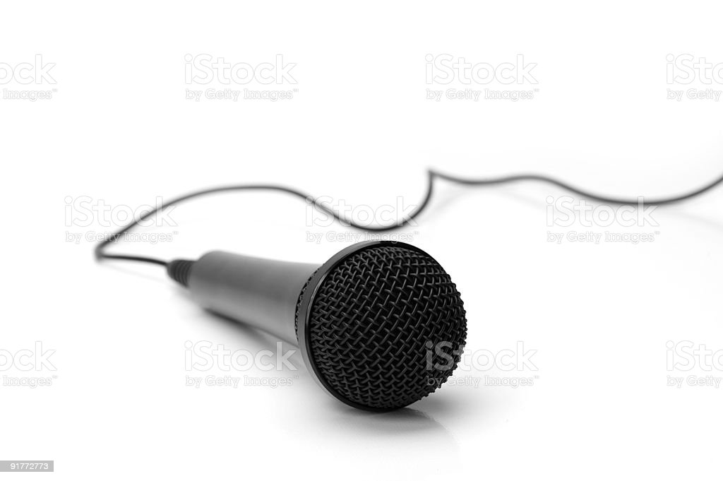 Microphone Isolated on White stock photo