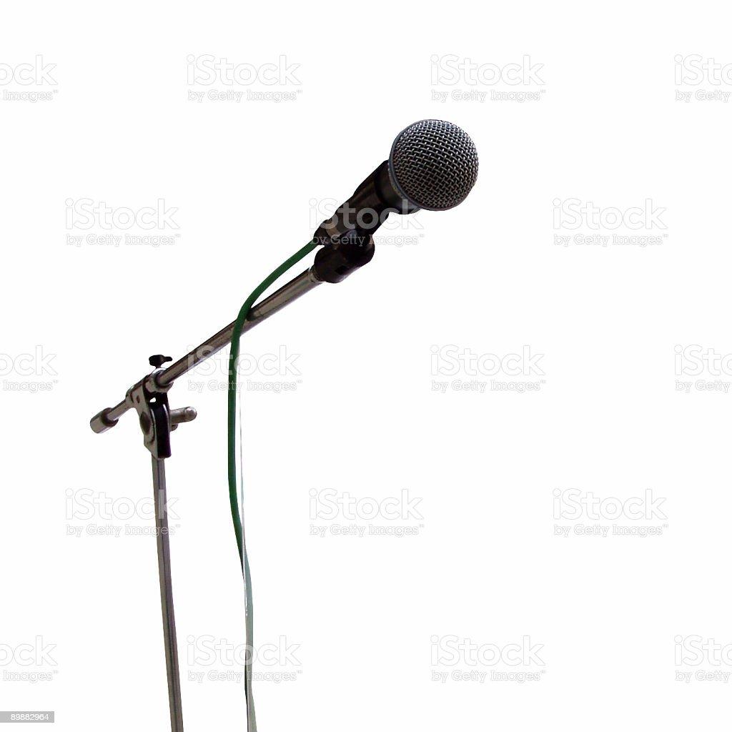 Mikrofon isoliert auf speach Lizenzfreies stock-foto
