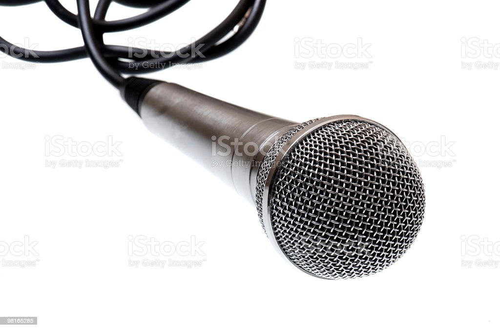 microphone on a white royalty-free stock photo