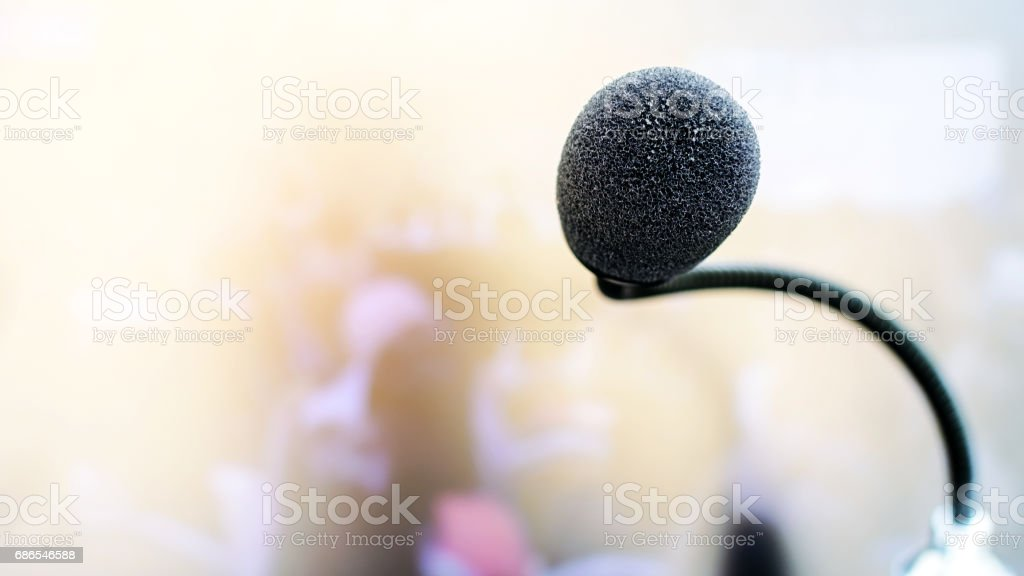 Microphone on abstract. Mic technology. royalty-free stock photo