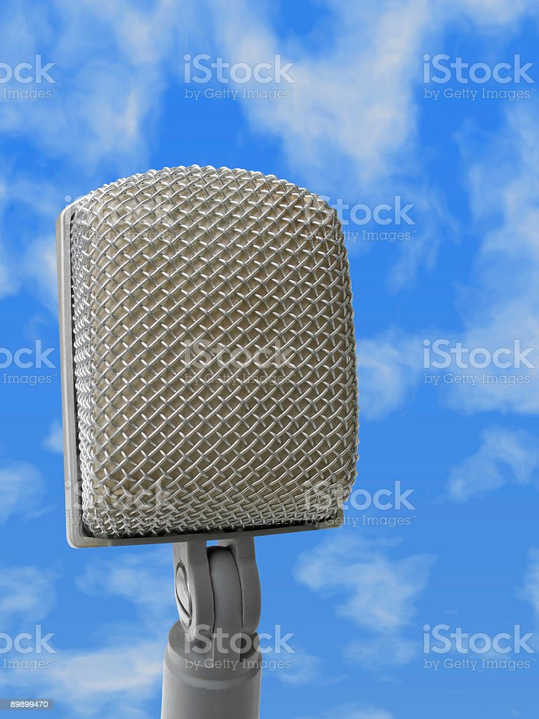 Microphone - on air royalty-free stock photo