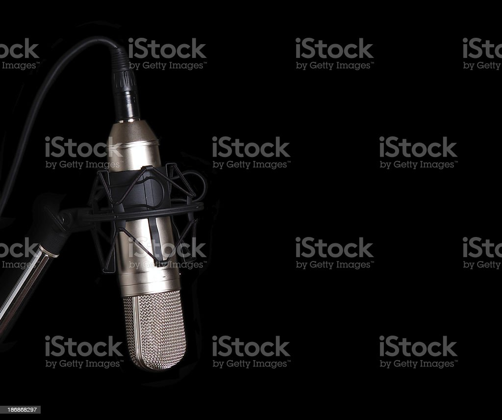 Microphone on Black Field royalty-free stock photo