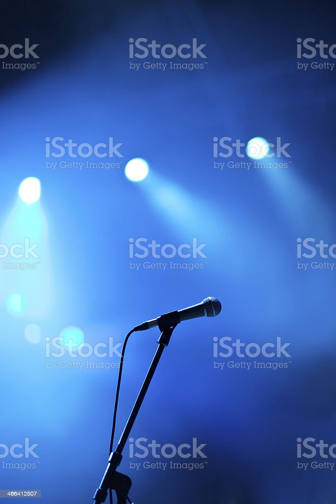 Microphone on concert stock photo