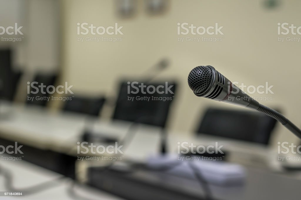 Microphone on meeting room