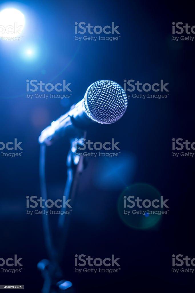 Mikrofon auf der Bühne – Foto