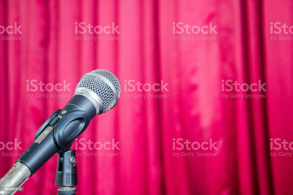 microphone on stage royalty-free stock photo
