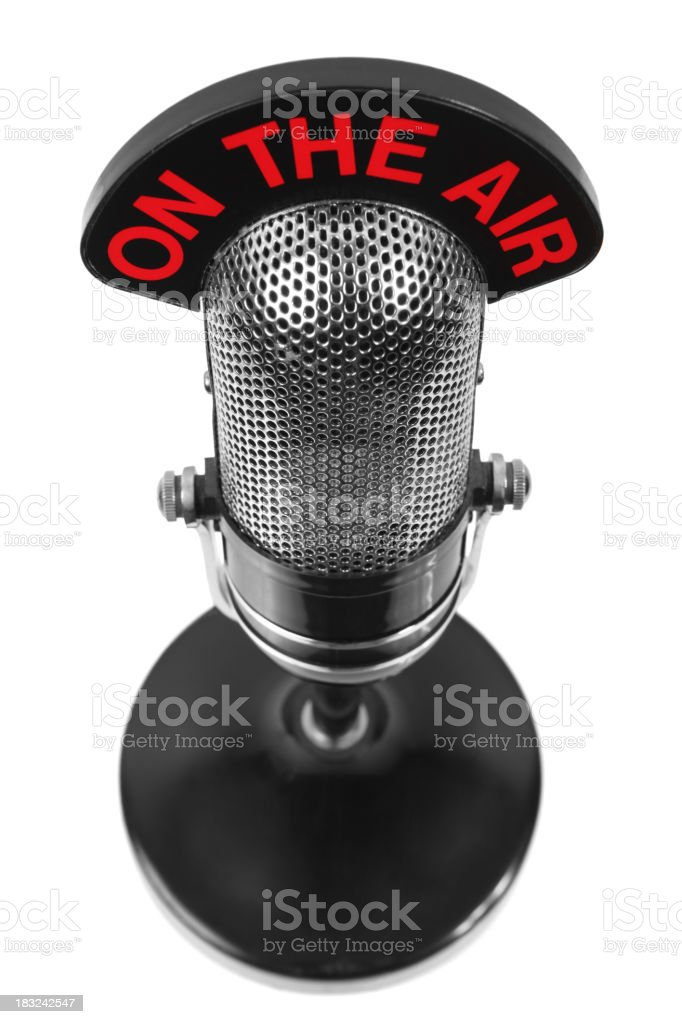 Microphone on the air royalty-free stock photo