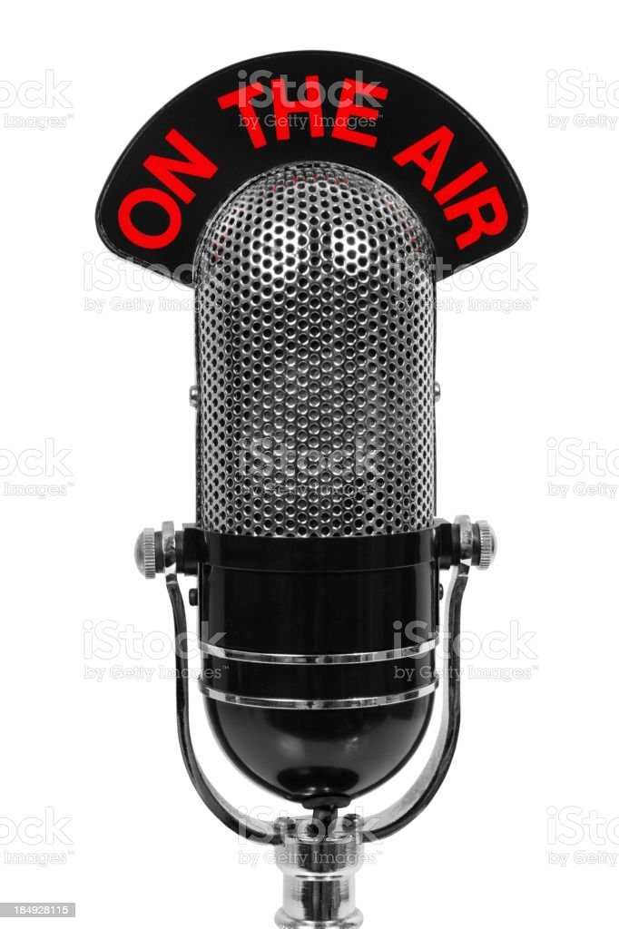 Microphone On The Air stock photo