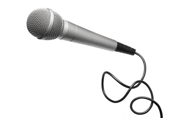 Microphone on white Microphone, isolated on white background microphone stock pictures, royalty-free photos & images
