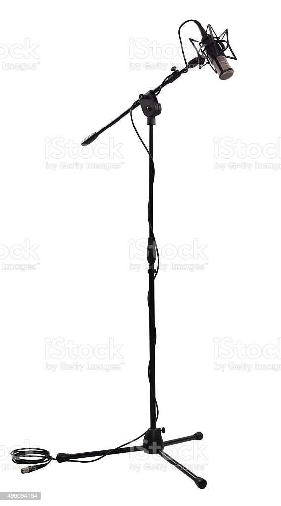Microphone on white stock photo