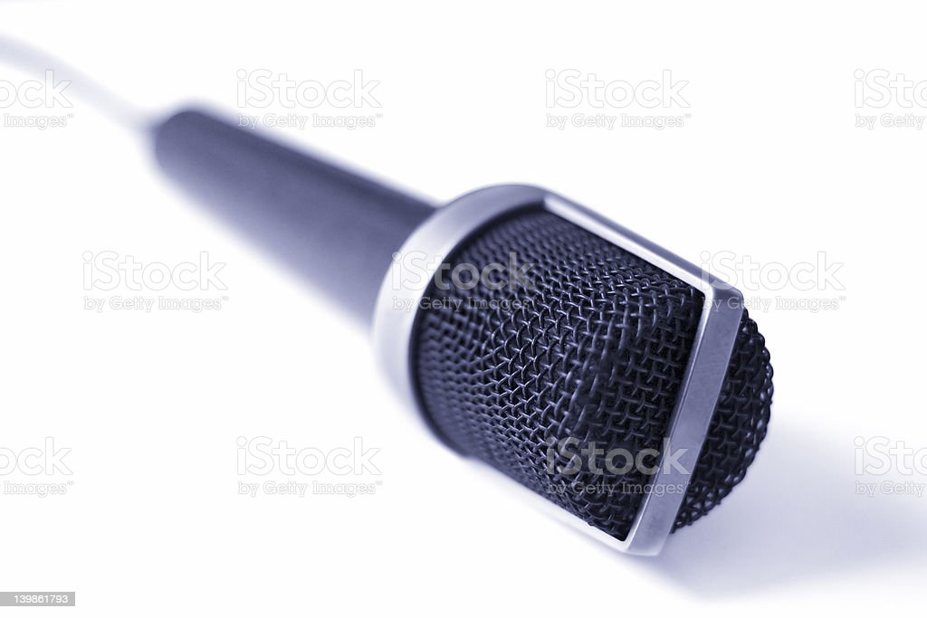 Microphone (Blue) royalty-free stock photo