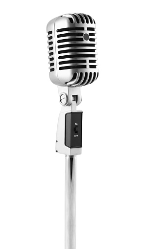 Generic Microphone on a white background.