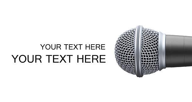 microfono - talk in a radio foto e immagini stock
