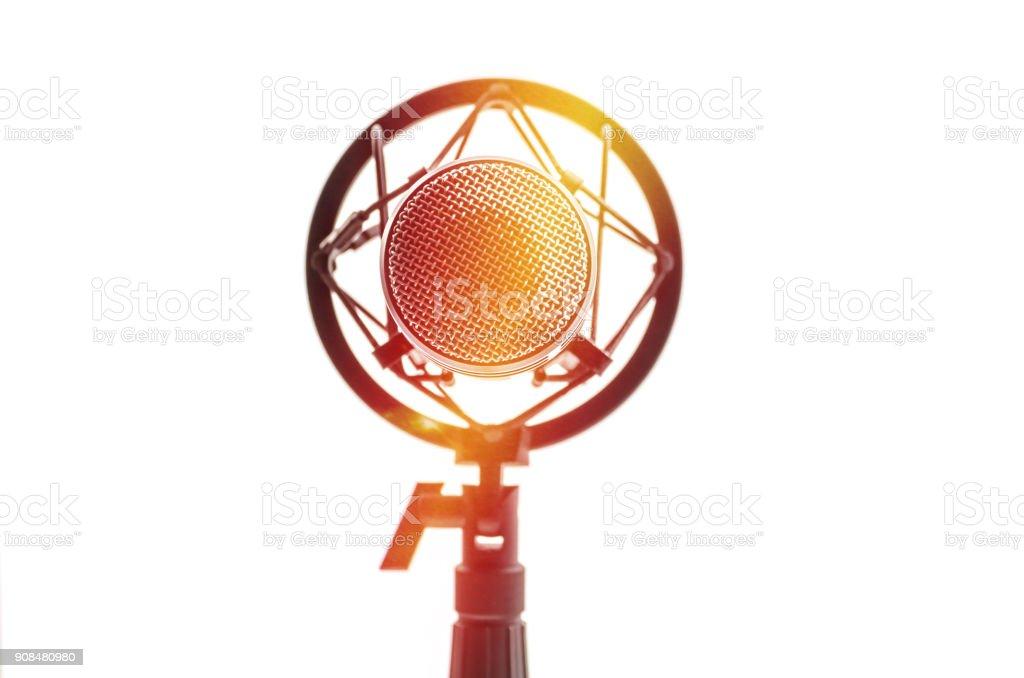 Microphone stock photo