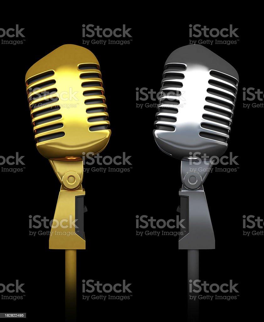 Microphone range stock photo
