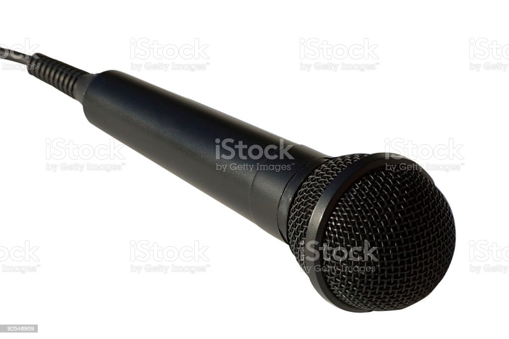 Microphone singer royalty-free stock photo