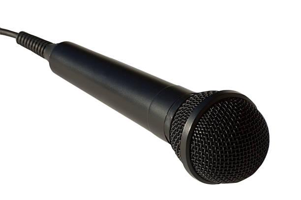 Microphone singer stock photo
