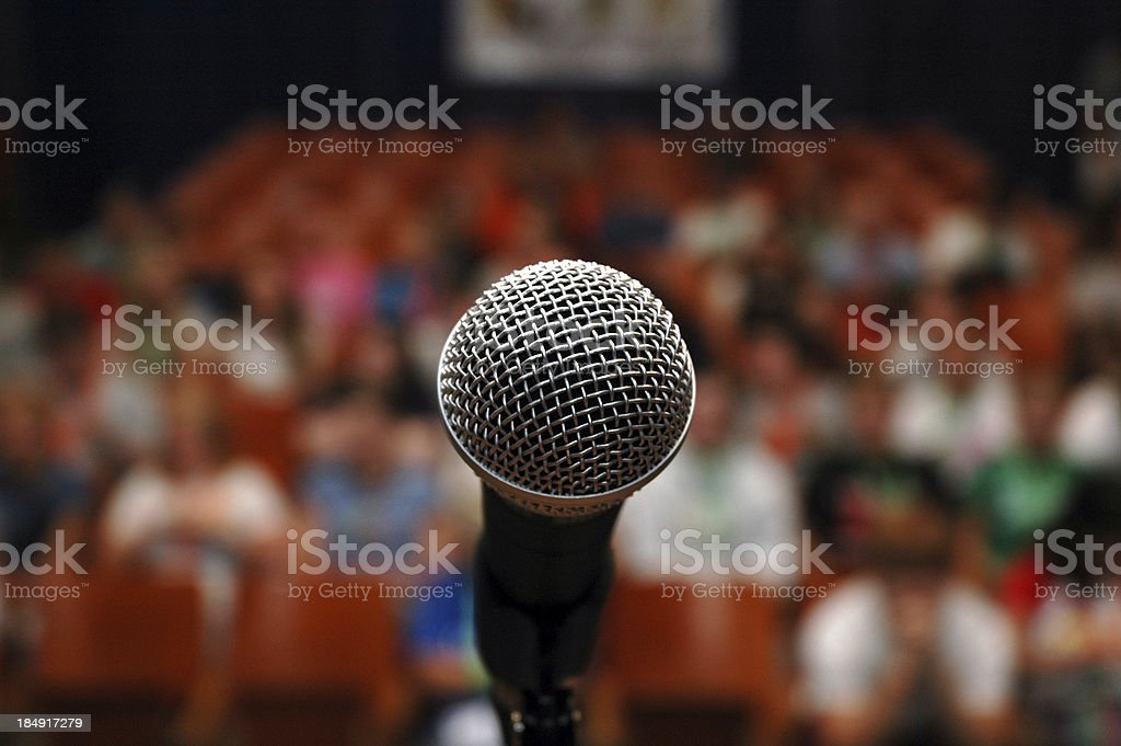 Microphone - Stage Fright stock photo