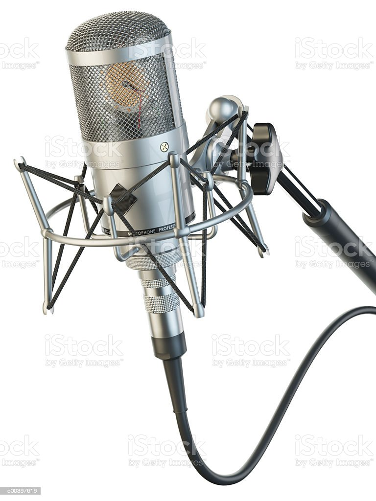 Microphone studio professional stock photo