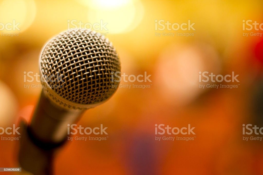 Microphone with Bokeh stock photo