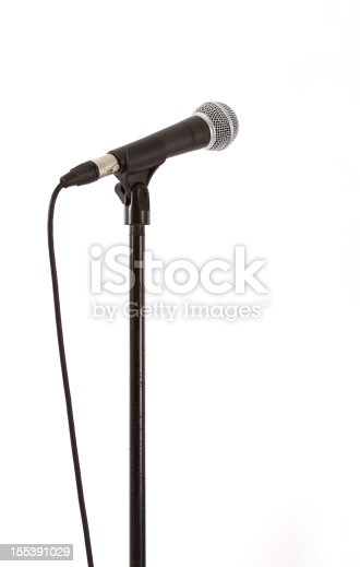 Recording studio microphone, isolated on white with a clipping path (studio shot).