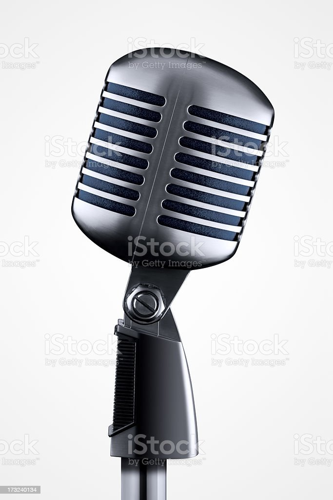Microphone With Clipping Path stock photo