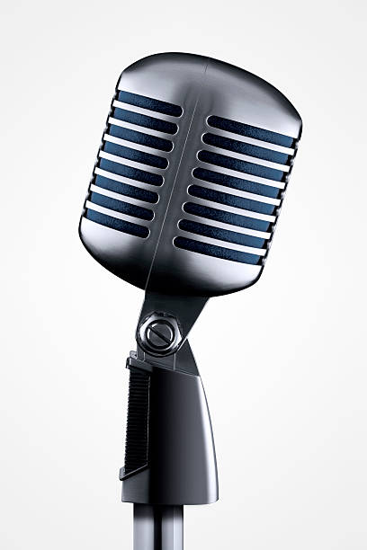 microphone with clipping path - elvis stock photos and pictures