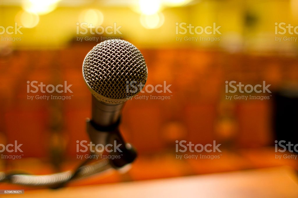 Microphone with No Crowd stock photo