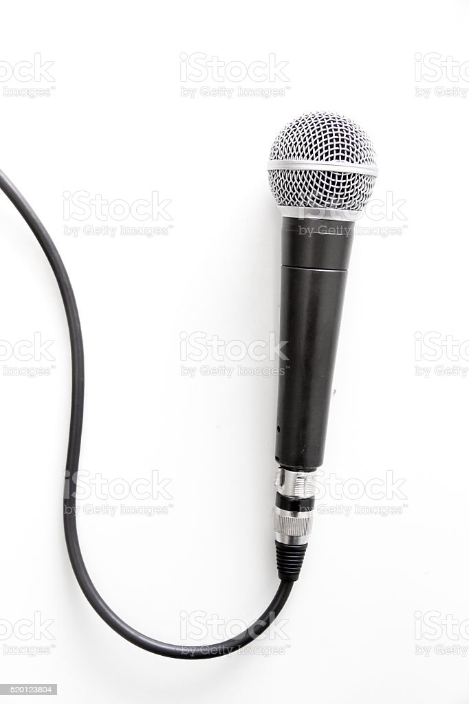 Microphone with wire stock photo