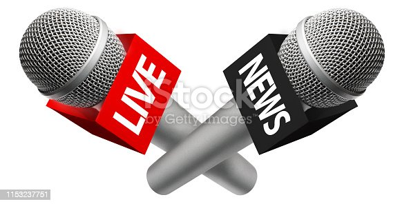 istock Microphones with signs