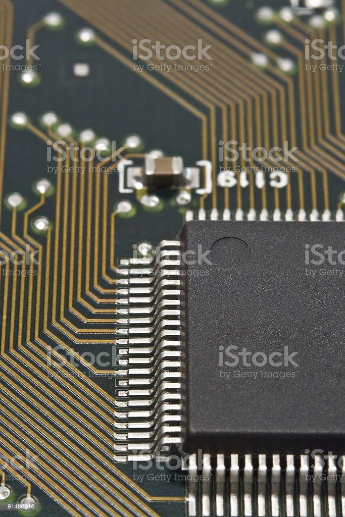 Microprocessor and Circuit Board stock photo